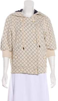 Marc by Marc Jacobs Quilted Three-Quarter Sleeve Jacket