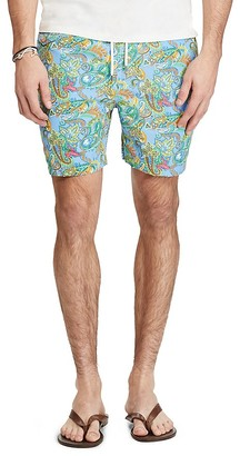 Polo Ralph Lauren Traveler Paisley Swim Trunks $75 thestylecure.com