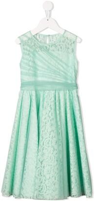 Aletta layered lace midi dress
