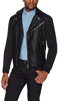 Armani Exchange A|X Men's Stud Moto Coated Jacket