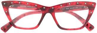 Valentino Eyewear embellished cat eye glasses