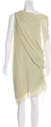 Helmut Lang Draped Silk Dress