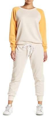 The Laundry Room Grommet Lace-Up Fleece Jogger Pants