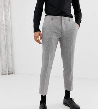 Heart N Dagger slim fit suit pants in gray herringbone