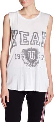 Juicy Couture Yeah Collegiate Distressed Tank