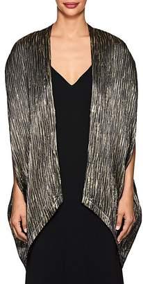 Zero Maria Cornejo Women's Mala Metallic Crinkled Silk-Blend Coat