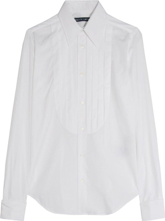 Ralph Lauren Addison Cotton Tuxedo Shirt