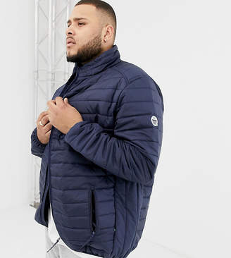 Duke King Size quilted jacket in navy
