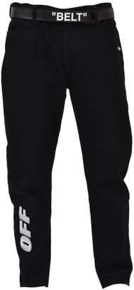 Off-White Black Slim-fit Jean With Belt