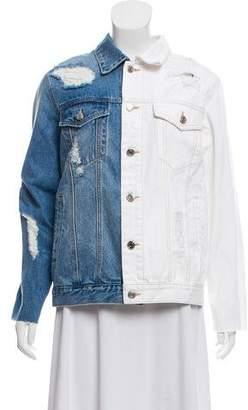 Sjyp Half and Half Denim Jacket w/ Tags