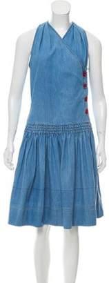 See by Chloe Sleeveless Chambray Dress