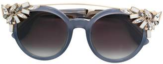 Jimmy Choo Eyewear crystal embellished carryover sunglasses