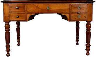 One Kings Lane Vintage French Walnut Louis Philippe-style Desk - Castle Antiques & Design