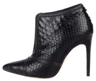 Alexandre Birman Embossed Ankle Boots