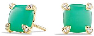 David Yurman Châtelaine Earrings with Chrysoprase and Diamonds in 18K Gold