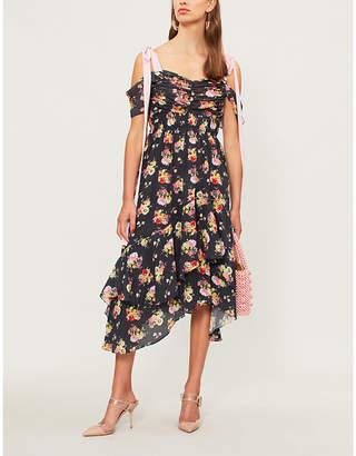 Preen Line Dehebra off-the-shoulder crepe midi dress