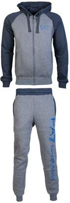 Emporio Armani EA7 by 6YPV62 PJ07Z Hooded Cotton Zip Up /Navy Tracksuit XL