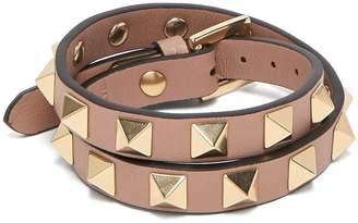 Valentino Rockstud wraparound leather bracelet