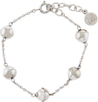 Majorica Tea Cup 7mm White Pearl Bracelet
