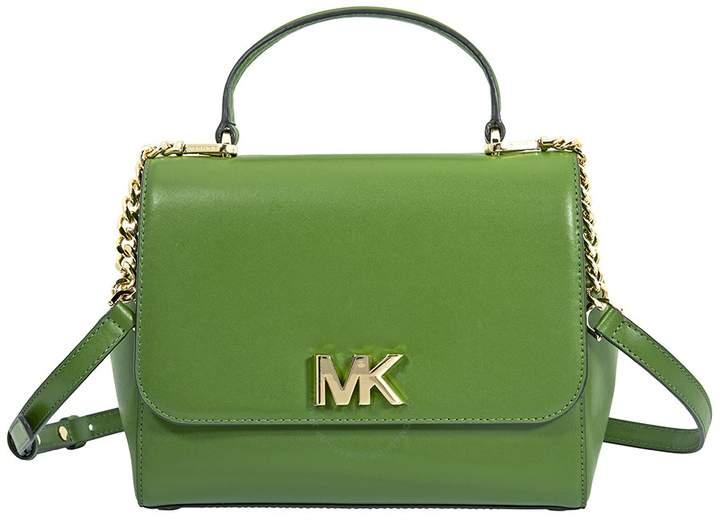 Michael Kors Mott Medium Leather Satchel- True Green - ONE COLOR - STYLE
