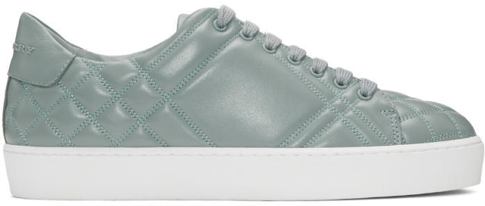Burberry Blue Quilted Westford Sneakers