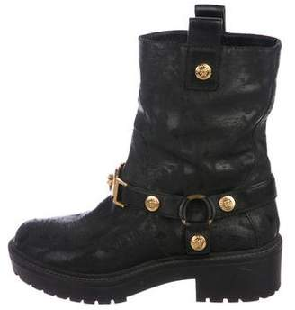 Versace Medusa Leather Boots