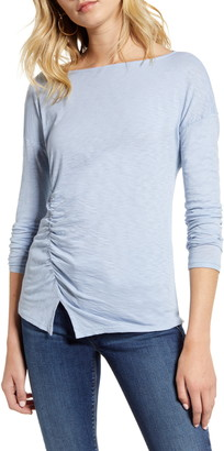 Stateside Side Ruched Long Sleeve Supima® Cotton Tee
