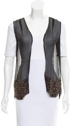 Gryphon Embellished Silk Vest