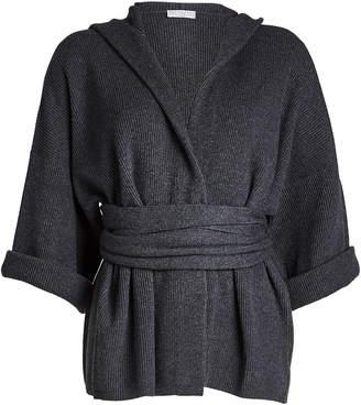 Brunello Cucinelli Cashmere Cardigan with Hood