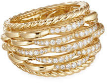 David Yurman Tides 18k Gold Woven Diamond Ring, Size 5