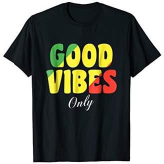 Good Vibes Only Rasta Reggae T Shirt Rastafari Tee
