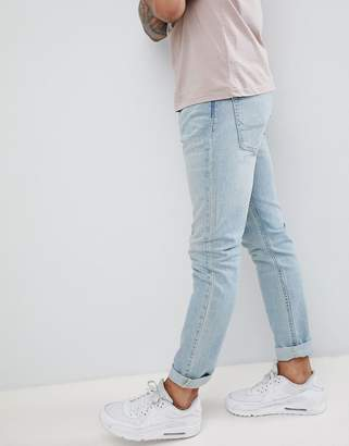 Hollister slim fit stretch jeans in light wash