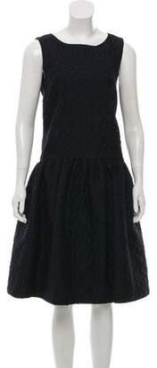 Oscar de la Renta Jacquard Midi Dress w/ Tags