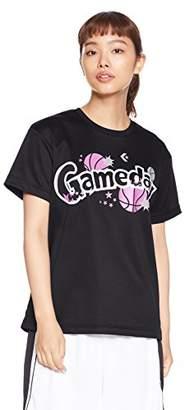 Converse (コンバース) - [コンバース] バスケットボールウェア 機能プリントTシャツ [レディース] CB382301 ブラック 日本 O (日本サイズ2L相当)