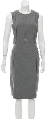 Akris Punto Zip-Accented Midi Dress
