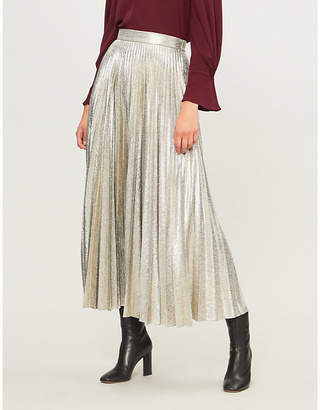 Emilia Wickstead Sunshine metallic-knit midi skirt