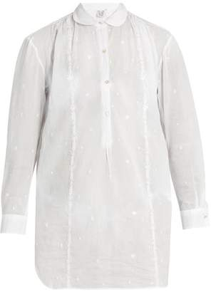 Thierry Colson Lizzy Floral Embroidered Cotton Dress - Womens - White