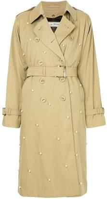 Tu Es Mon Trésor embellished trench coat