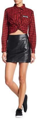 Muu Baa Muubaa Reynolds Leather Mini Skirt