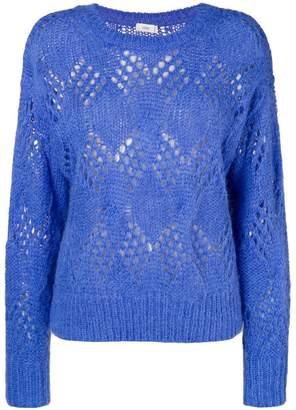 Closed eyelet knit sweater