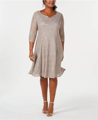 7e7a843294689 Sl Fashions Plus Size Sequined Lace Dress