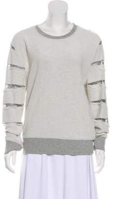 IRO Distressed Scoop Neck Sweatshirt