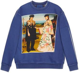 Gucci Oversize sweatshirt with Mystic Cat