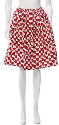 Prada Heart Print Knee-Length Skirt
