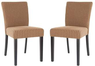 Safavieh Camille 20 Striped KD Dinning Chairs, Set of 2