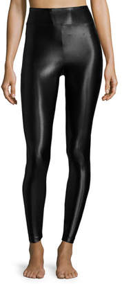 Koral Activewear Lustrous High-Rise Athletic Leggings, Black $88 thestylecure.com