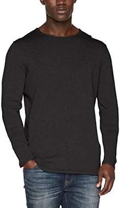 Tom Tailor Men's Basic Rundhals Pullover Jumper, (Black Grey Melange 2572), X-Large