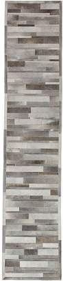 Solo Rugs Hand-Woven Cowhide Runner
