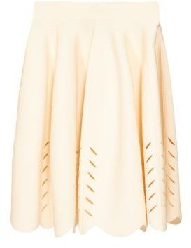 Alexander McQueen Scalloped Knitted Mini Skirt - Womens - Ivory