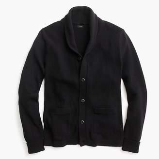 J.Crew Varsity shawl-collar cardigan in textured cotton